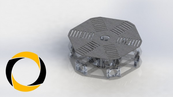 Akkuplatte aus CFK (Carbon) für Hexacopter